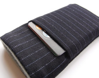 Iphone 6 Cover / NEW iPhone SE  / Samsung S5 Fabric  case /  English Wool iphone pouch