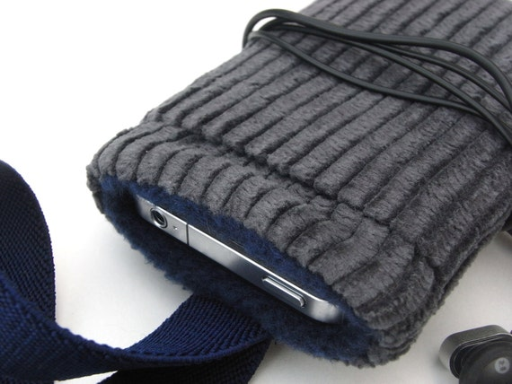 Iphone 4s Case / iphone Cover / sleeve / Gray Corduroy