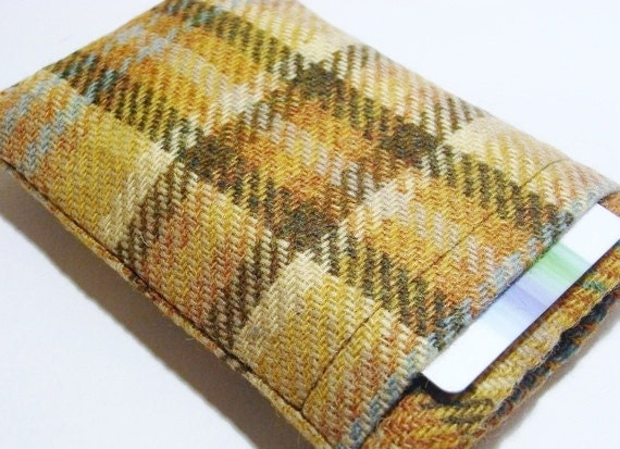 iPhone  6 6plus Samsung galaxy  Fabric Cover / Smartphone Sleeve  / Harris Tweed