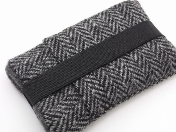 iphone 5 Fabric  cover / iphone case / Harris Tweed Gray iphone case / ipod touch pouch