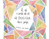 dog-ear 5x7 print