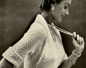 1950's Repro Knit Shrug Pattern PDF Downloadable