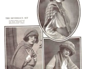3 1920s Hats And Scarves Knit Crochet Patterns Instant Download Downton Abbey Era Roaring 20s Flapper Era