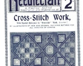 Antique Cross Stitch Needlecraft Practical Journal No 30 Series 2 Instant Digital Download