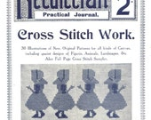 Antique Vintage Cross Stitch Lessons Needlecraft Practical Journal 95 Digital Download