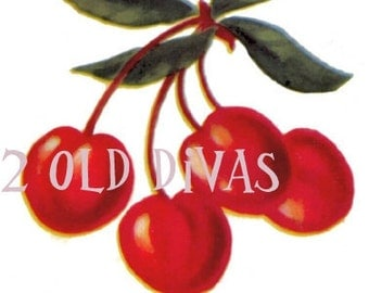 24 1950s Style Cherries Spice Decals