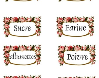 Shabby Paris Apartment French Kitchen Decals
