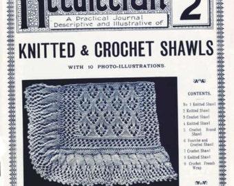 Antique Vintage Knit Crochet Shawl Patterns 1900s Needlecraft Practical Journal Instant Download