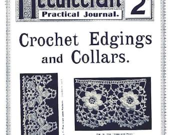 Antique Crochet Edgings and Collars Needlecraft Practical Journal No 37 Series No 5 Instant Digital Download