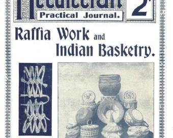 Antique Indian Baskets Raffia Work Needlecraft Practical Journal No 74 Instant Digital Download
