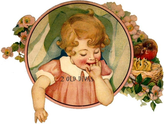 Vintage Sweet Little Girl Nursery Decal