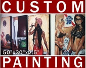 Custom commission 50 x 30 Original Acrylic Painting done by JEREMY WORST