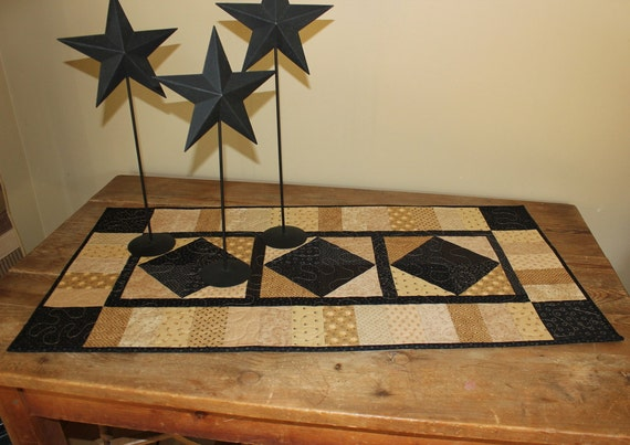 Leftovers quilted table runner