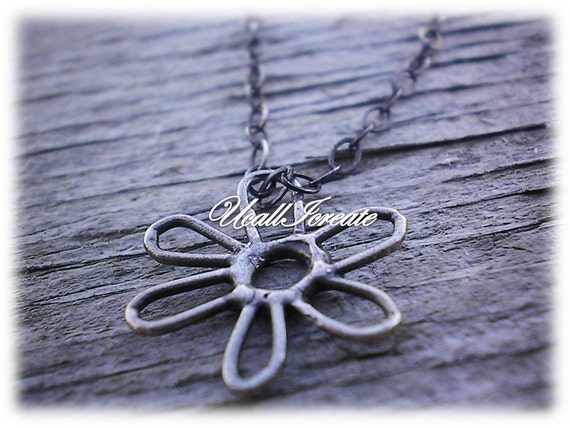 Oxidized Sterling Silver Necklace (Reserved for Dawn)