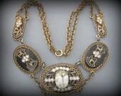Lovely Art Deco Nouveau Rhinestone Vintage Necklace