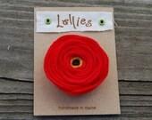 Lellies Red Poppy Brooch