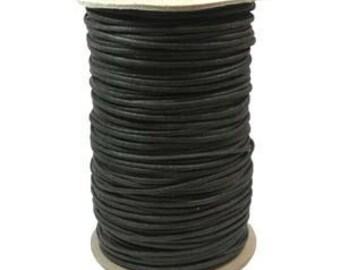 Wax Cotton Cord 2mm Black 10 yards or 30 feet