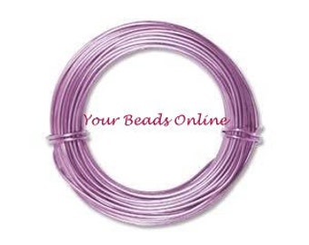Aluminum Anodized Wire 18 gauges Lavender Violet 39 ft or 13 yards