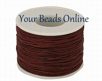 Wax Cotton Cord 1mm Cinnamon or Dark Burgundy 8 yards or 24 feet 26 Colors Available