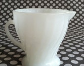 Vintage Fire-King Milk Glass Creamer