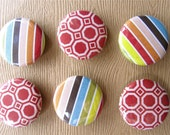 Red and Stripes Magnet Set (6)