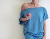 CottonTop- Oversize Summer Light Blue  Tunic Top