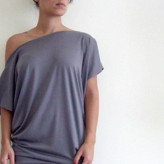 Maternity Tunic Top- Oversize Summer  Maternity Grey Tunic Top
