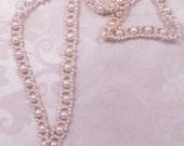 Vintage Faux Pearl Bead Lariat Necklace