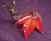 First Leaf to Fall Brilliant Orange Maple Leaf 70 Brooch
