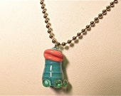 MARLON the Glass Lampworked BROOKLYN MONSTER Pendant/Necklace