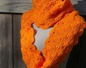Tangerine Tango Infinity Scarf Handmade