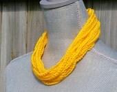 Crochet Chain Necklace in Sunshine Yellow