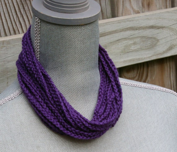 Plum Purple Crochet Necklace