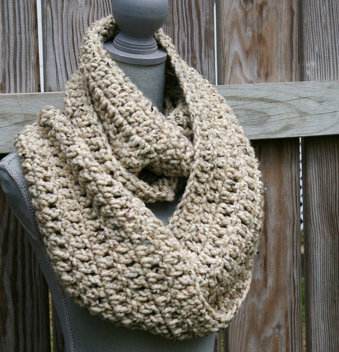 Free Crochet Patterns For Toddler Infinity Scarf : Infinity Scarf Crochet Circle Scarf Chunky Cowl by ...