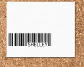Note Cards- Eco Friendly Barcode Design (Set of 8 Flat)