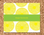 Note Cards- Lemon Slices (Set of 8 Flat)
