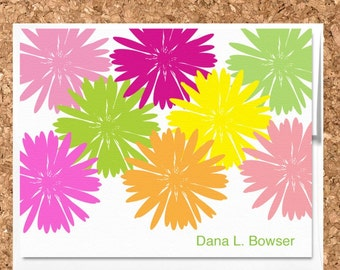 Note Cards- Flower Garden Custom Eco Friendly Cards (Set of 8 Flat)