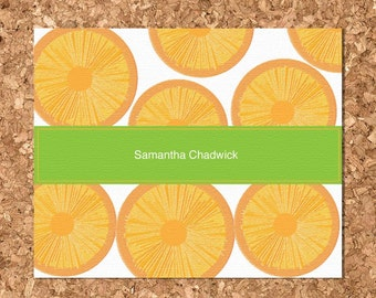 Orange Slices Eco Friendly Note Cards (Set of 8 Flat)