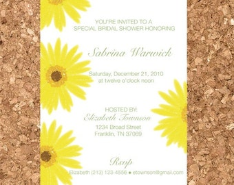 Printable Modern Floral Invitation Template (Bridal Shower, Baby Shower, Birthday, Save the Date Invite)