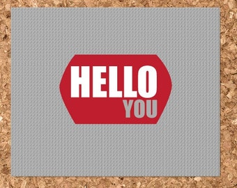 Hello You Design Eco Friendly Note Cards (Set of 8 Flat)