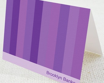 Note Cards- Eco Friendly Shades of Purple (Set of 6 Folded)