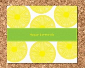 Note Cards- Lemon Slices (Set of 8 Flat)