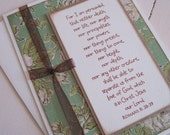 For I am persuaded... (single card in green floral)