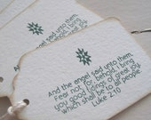Good tidings of great joy... (Christmas scripture tags)