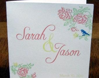 Wedding CD folder