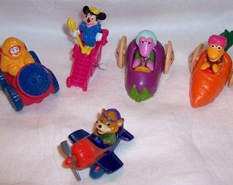 Vintage Disney McDonalds Burger King Henson Fast Food Collectible Toys lot of 5