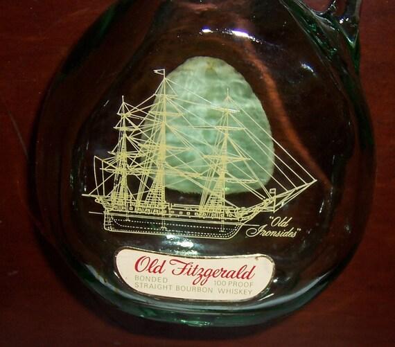 Vintage Old Fitzgerald Bourbon Whiskey Decorative Decanter