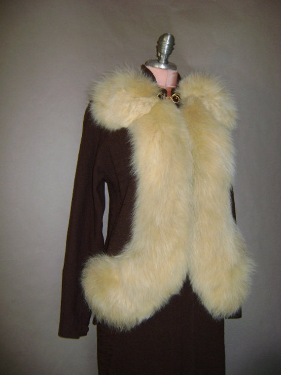 30s suit 1930s 40s 1940s vintage AMAZING SUIT chocolate brown with lush fox fur 2pc jacket skirt set
