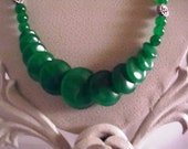 Light Green Jade Coin shaped Necklace