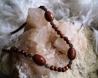 Goldstone Scarabs with goldstone beads